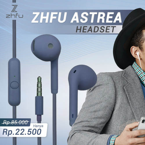 Foto Produk ZHFU ASTREA HEADSET EARPHONE HANDSFREE ULTRA BASS - VANTA BLACK dari ZHFU INDONESIA