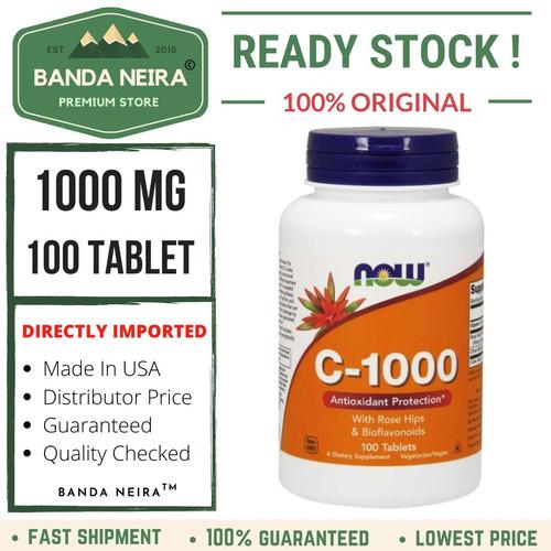 Foto Produk Now Foods C-1000 100 Tablet - USA dari Banda Neira Store