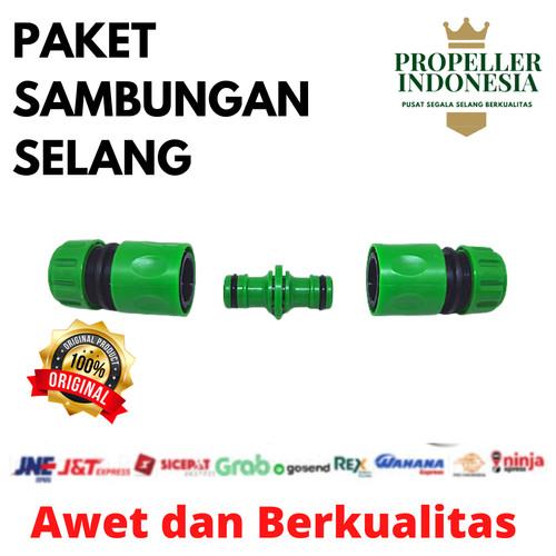 Foto Produk Sambungan Selang Air Paket Quick Connector Selang Konektor Lurus dari propellerindonesia
