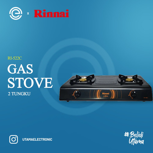 Foto Produk RINNAI Kompor Gas 2 Tungku RI-522C - Hitam dari UTAMA_ELECTRONIC