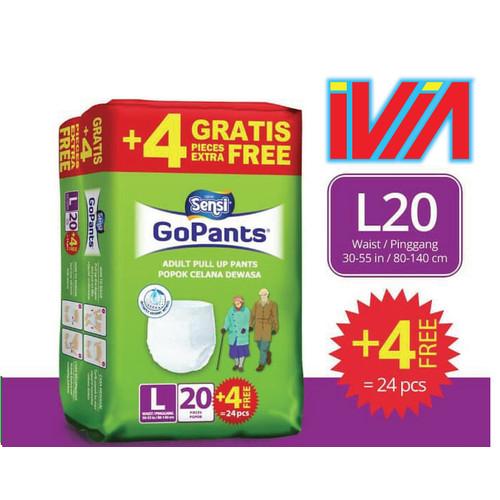 Foto Produk POPOK PAMPER CELANA DEWASA MERK GOPANT UKURAN L (20+4 PCS) dari Ivia Shop