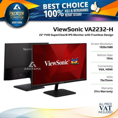 "Foto Produk Monitor LED Viewsonic VA2232-H VA2232H 22"" 1080p IPS 75hz VGA HDMI dari Abditama Official"