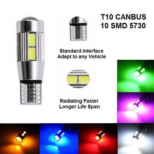 Foto Produk Lampu LED Lensa Canbus T10 Senja / Sen 10 Mata 5630 / 5730 Mobil Motor - Putih dari Garuda LED
