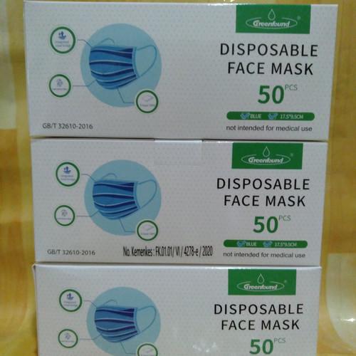 Foto Produk Masker Wajah sekali pakai 3 lapis 50 pcs disposable face dari Sim PetShop