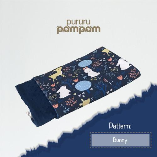 Foto Produk Selimut Bayi Minky Navy Blue Premium - Bunny dari pururupampam