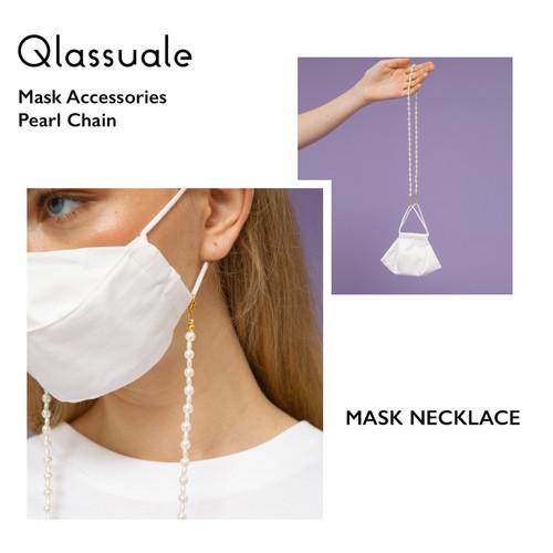 Foto Produk Tali Masker / Kalung Masker - Pearl Beads - Tali MASKER dari Qlassuale