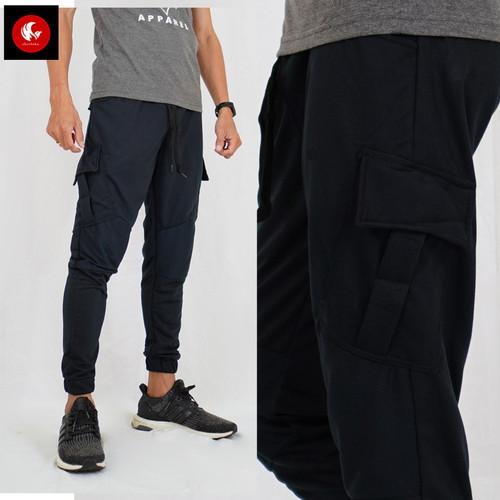 Foto Produk SEAL Okechuku Celana Joger Panjang Training Pria Jogger Pants Fashion - Hitam, M fit to L dari Okechuku