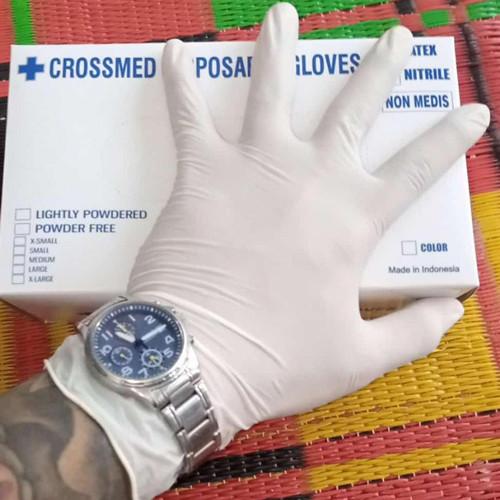 Foto Produk Sarung tangan latex no powder isi 100 s M L dari celebrity petshop