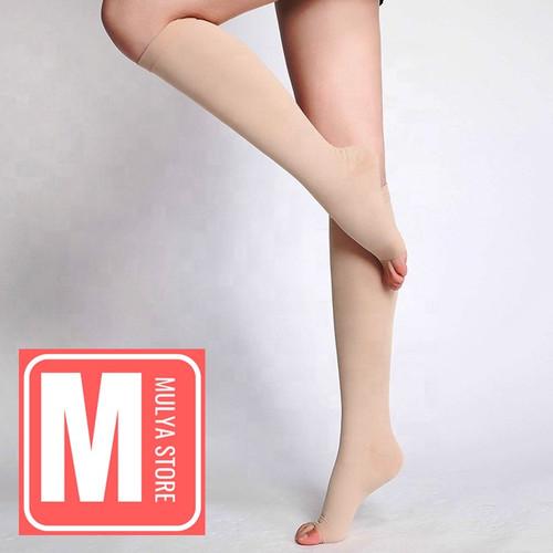 Foto Produk Stocking Varises Calf Stoking Kompresi Bawah Lutut Medical Compression - Nude, L dari Mulya Store