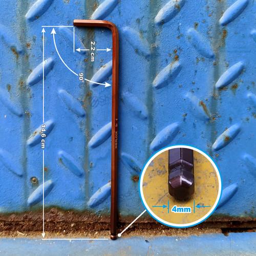 Foto Produk SHERLOCK KUNCI L HEXKEY material S2 (HEAVY DUTY) ukuran 4 mm (1pcs) dari SHERLOCK TOOLS
