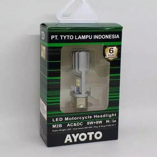 Foto Produk Lampu Depan LED AYOTO 2 Sisi Bebek Matic Satria AC DC M2B AYOTO ORI - M2B AYOTO dari Velocita Variasi