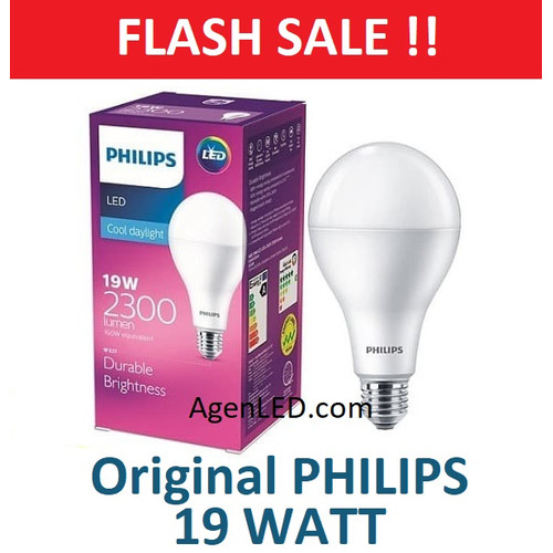Foto Produk PHILIPS Lampu LED 19W Bohlam 19 w watt PUTIH Bulb 19watt philip white dari AgenLED