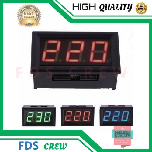 Foto Produk Voltmeter AC 220 Volt Biru Digital Led 50V-500V Untuk Panel Listrik dari FDS crew