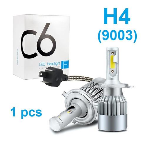 Foto Produk Lampu LED Mobil Headlight Lampu Utama Mobil C6 H4 H11 H8 H9 H16 36W - 1 PCS H4 dari Rumix