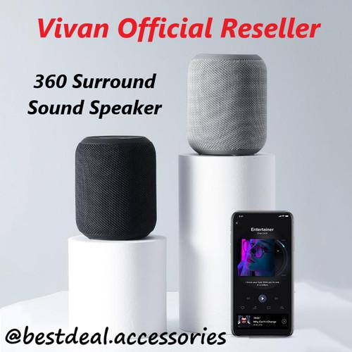 Foto Produk Vivan VS12 Bluetooth Speaker 360 spt Apple Homepod Mini / Google Nest - Hitam dari bestdeal official