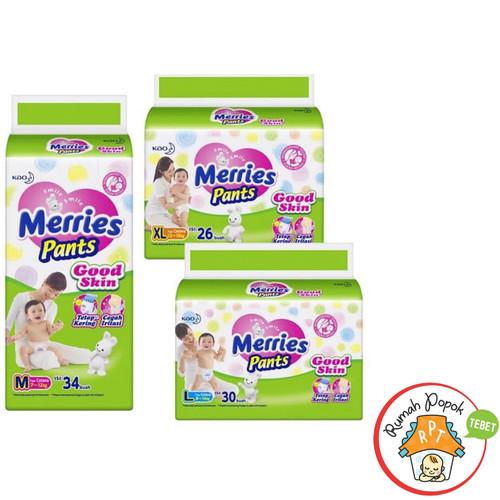 Foto Produk Merries pants Good Skin M34 L30 XL26 - Merries XL 26 dari GB Multi Sukses