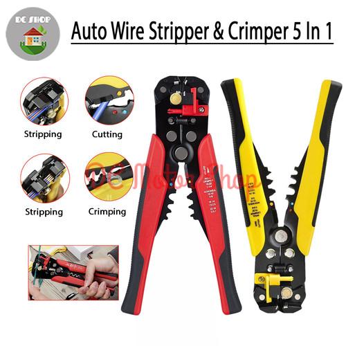 Foto Produk Automatic Wire Stripper Crimper Cuter Pliers Crimping Tool Alat Potong dari DC Motor Shop
