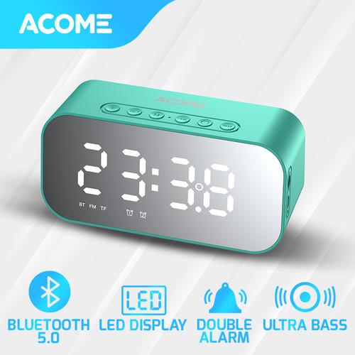 Foto Produk Acome A5 Speaker Bluetooth 5.0 Jam Alarm LED Display Ultra Bass - Blue dari Acome Indonesia