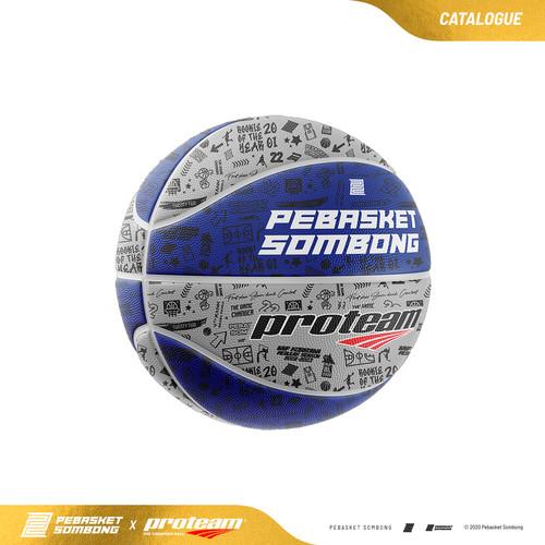 Foto Produk Bola Basket Proteam X Pebasket Sombong - AMAZING 11 YEARS (Blue) - 6 dari PebasketSombong