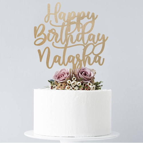 Foto Produk Custom Cake Topper | Bisa Custom Tulisan | Topper Kue Akrilik - 10cm dari Oh My Sign