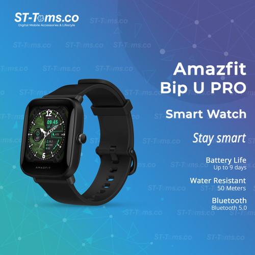 Foto Produk Amazfit Bip U PRO Smartwatch Jam Tangan Digital With GPS - Hitam dari ST-Toms.co