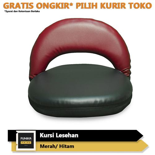 Foto Produk FUNIKA PRIME Kursi Lesehan Lipat - Hitam/Merah Maroon [SR001 HT-NCM] dari FUNIKA