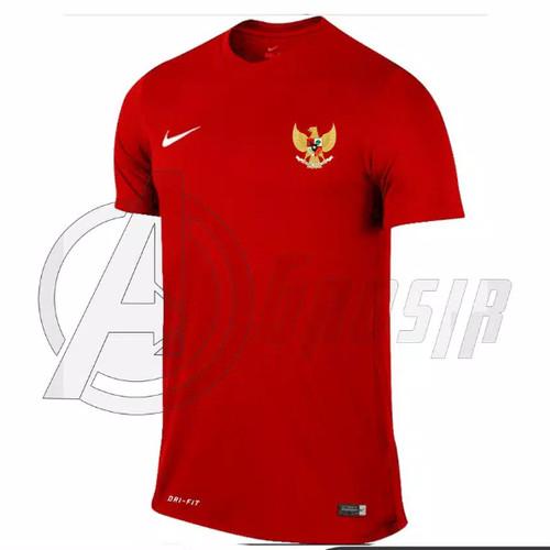 Foto Produk Jersey baju kaos olahraga bola futsal traing timnas garuda - Merah, M dari oxsport shop