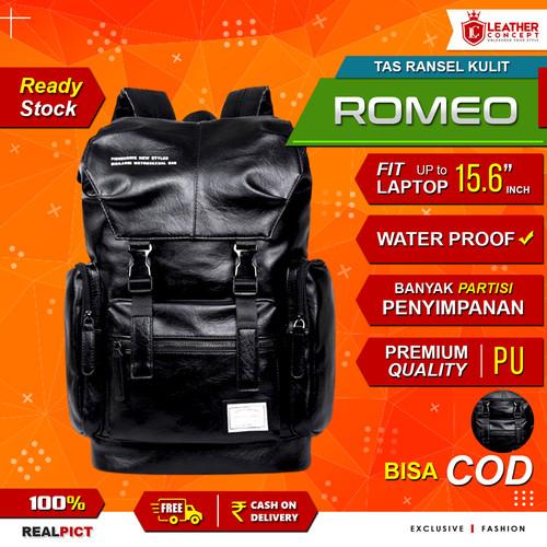 Foto Produk Tas Ransel Kulit Pria Backpack Kulit Pria Tas Sekolah Tas Pria ROMEO dari Leather Concept