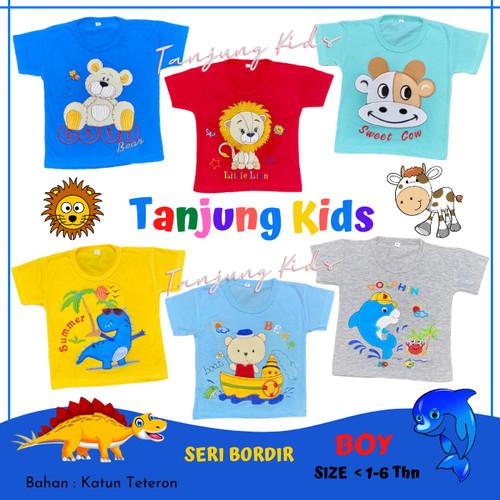 Foto Produk Baju atasan kaos anak laki laki bayi cowok cewek 1- 6 tahun lucu murah - BIRU-BOAT BEAR, S dari Tanjung Kids