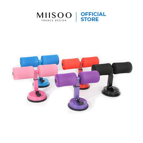 Foto Produk MIISOO Yoga Sit Up Bench Fitness Gym Alat Bantu Olahraga - HITAM dari Miisoo Official Shop