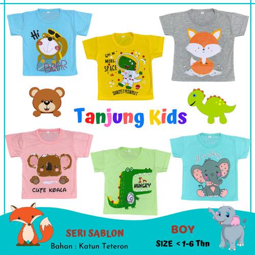 Foto Produk Baju Kaos atasan anak bayi cowok cewek laki laki perempuan usia1-6thn - SALEM-KOALA, S dari Tanjung Kids