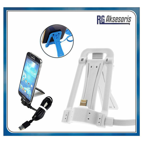 Foto Produk Multi Function Holder Data Cable Stand SHW 001 MICRO USB / IPHONE - Random dari RG AKSESORIS HP