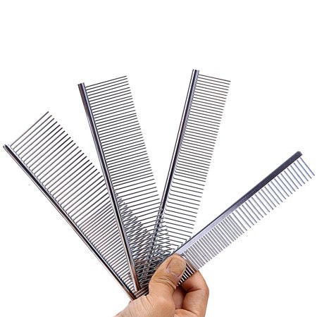Foto Produk DoggyMan Stainless Steel 2in1 Comb NS81 NS82 NS83 Sisir Longhair - SS NS-81 dari Hime petshop