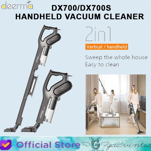 Foto Produk Deerma DX700 DX700S Vacuum Cleaner 2in1 Handheld Penyedot Debu Rumah - Hitam dari GADVENTIA Official Store