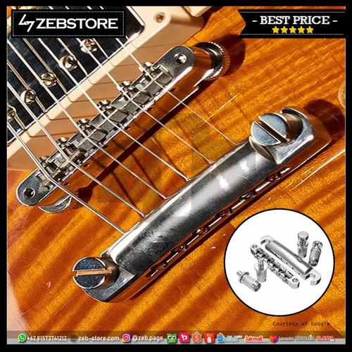Foto Produk Bridge Tune O Matic Gibson Lespaul Chrome dari Zeb Hobbies Store