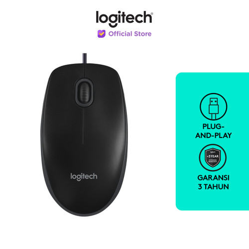 Foto Produk Logitech B100 Optical USB Mouse dari Logitech Official Store