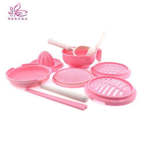 Foto Produk GRINDING BOWL Alat Pembuat Makanan Bayi Anak 10 pcs / Baby Food Maker - PINK dari sosoyo