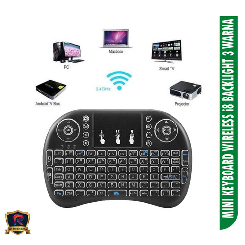 Foto Produk Mini Keyboard Wireless i8 2.4G Handheld Keyboard For PC Android TV Box dari MrROBINshop