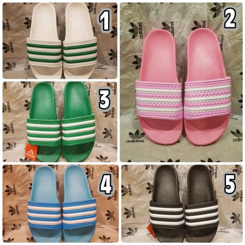 Foto Produk Sandal Adidas Original size 36 - 40 sandal wanita slip on pink hitam - Satu, 36 dari eno ajjh