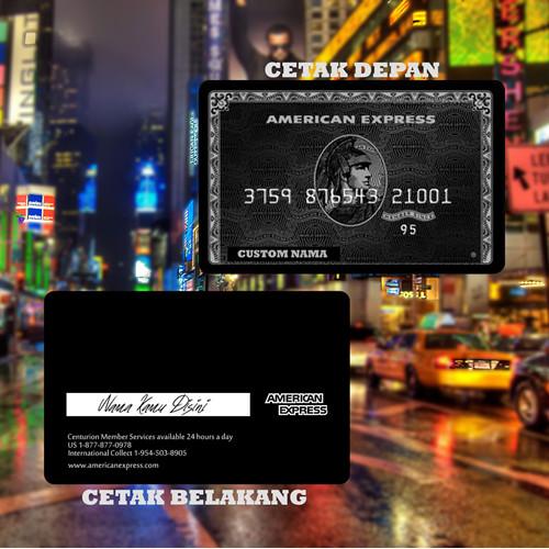 Foto Produk KARTU FLAZZ BCA GEN 2 CUSTOM | EMONEY DESIGN AMEX BLACK CARD E MONEY - BRIZZI BRI, cetak depan dari custom case ink