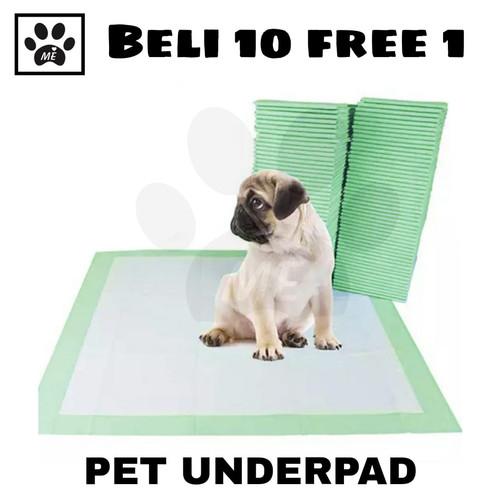 "Foto Produk Alas Pipis Pee Poop "" UNDERPAD 60x40 cm"" Perlak Anjing Kelinci - Hijau dari Tina Theng Store"