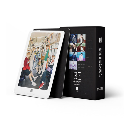 """Foto Produk LOMO CARD BTS """"BE"""" ISI 54 FOTO - Hitam dari cvelashop"""
