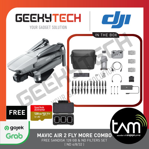 Foto Produk DJI Mavic Air 2 Fly More Combo - Garansi Resmi TAM dari GeekyTech