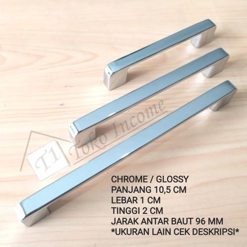 Foto Produk Tarikan Laci Lemari Minimalis / Handle Kabinet Chrome / T. 8818 - 96CH dari Toko Income
