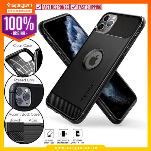 Foto Produk Case iPhone 11 Pro Max / 11 Pro / 11 Spigen Carbon Fiber Rugged Armor - 11 Pro Max dari Spigen Official