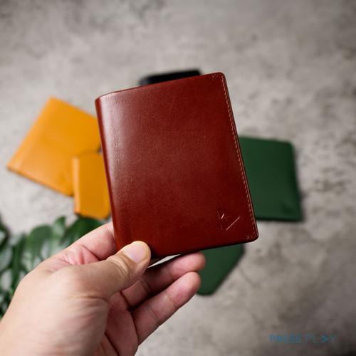 Foto Produk SLIMFOLD Slim Vegetable Tanned Leather Wallet by Press Play - Cognac Brown dari Press Play