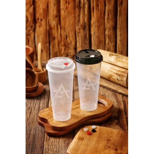 Foto Produk Gelas Plastik Boba/Cheese Tea/ Cup Injection PP 700ml/ Cup+Lid+Cap - Transparant dari WINGOH