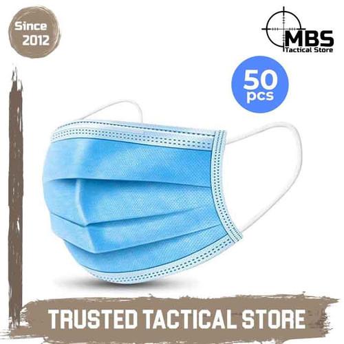 Foto Produk Masker 3Ply Disposable Mask Earloop Masker Non Medis Masker 3 Lapis dari MBS Tactical Store