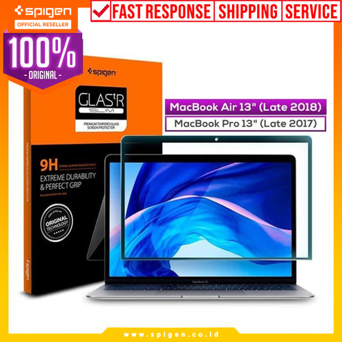 "Foto Produk Tempered Glass MacBook Air/ Pro 13"" Spigen Glas tR SLIM HD Anti Gores dari Spigen Official"