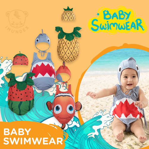 Foto Produk Baju Renang Bayi Anak Bayi / Baby Swimwear IMUNDEX Nanas / Strawberry - Watermelon, L dari IMUNDEX